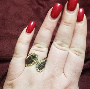 BCBG MaxAzria Jewel Hinged Adjustable Flex Ring